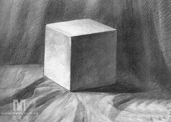 素描 立体几何石膏体图片