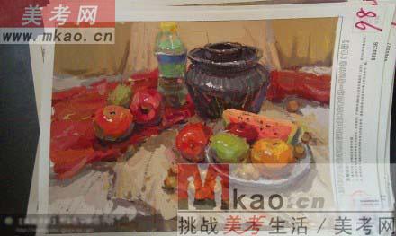 甘肃省美术联考色彩高分试卷