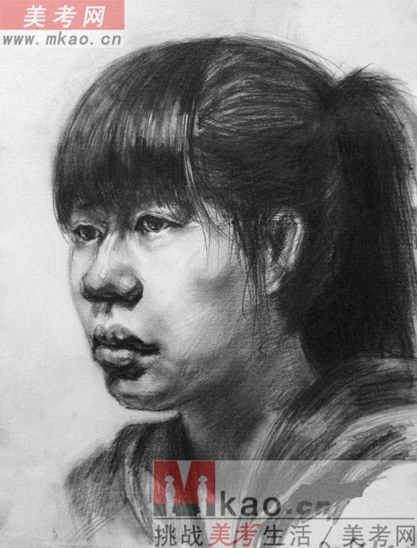 2013年安徽省美术联考素描高分试卷范画