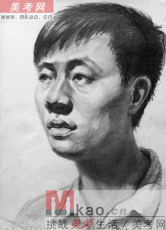 2013年甘肃省美术统考素描高分试卷范画