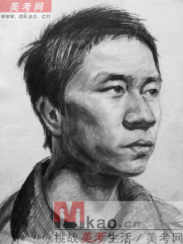 2013年湖南省美术联考素描高分试卷范画
